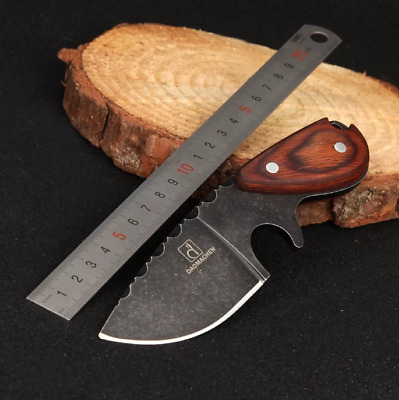 Tactical Hunting Knife Blade Fixed Survival Sheath Military Bowie Combat Steel