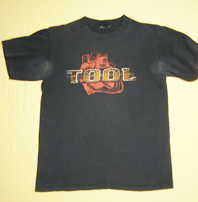 Vintage Rare T-Shirt Rock Band Tool Human Heart well-worn pre-conditioned blk M