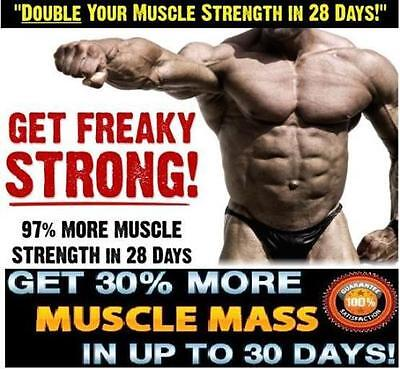 3x Muscle Bodybuilding Pills For Men Strong Lean Muscle Mass 6 Pack Ripped Abs