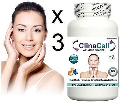 3x Anti Ageing Wrinkle Pills Fine Lines Younger Complexion Better Skin Collagen