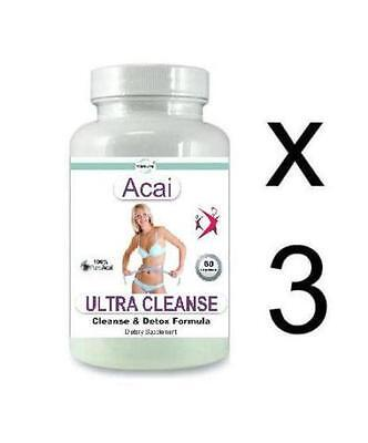 3x Detox Cleanse Diet Pills Oxy Cleanser Weight Loss Stomach Bloating Parasites