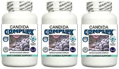 3 Candida Cleanse Pills Yeast Balance Fungus Odor Detox Thrush Digestive System