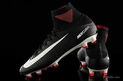 ca9c301c5  300 Nike Mercurial Superfly V DF FG Soccer Cleats Boots Black-White 831940- 002