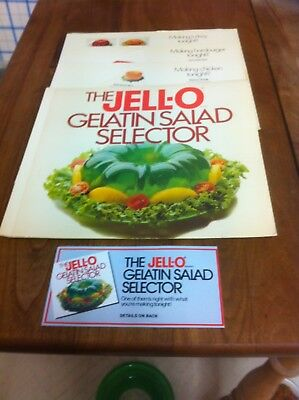 'The Jell-O Gelatin Salad Selector' by General Foods - 1980 - with Postcard