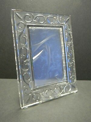 """Beautiful Marquis By Waterford Arabesque Lead Crystal Frame For 4"""" x 6"""" Photo"""