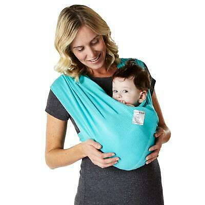 Baby K'tan Breeze Baby Wrap Carrier, Infant - Child Sling - Teal - Women's 10-14