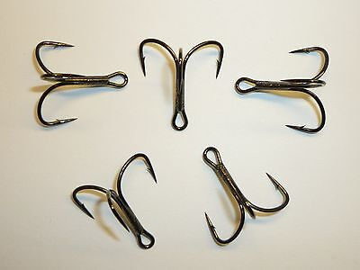 5 Mustad TG78XNPBN-40 KVD Elite Triple Grip Size 4//0 Barbless Treble Hooks