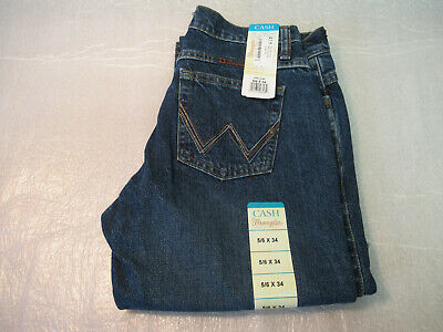 38474f2b Wrangler Cash Blue Jeans Womans 5/6 X 34 NWT Boot Cut Western Pants Cowgirl