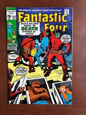 Fantastic Four #101 (1970) 7.0 FN Marvel Key Issue Bronze Age Last Jack Kirby