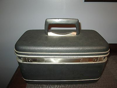 Vtg Samsonite SILHOUETTE  RECTANGULAR Luggage Suitcase Train case GRAY MAKEUP