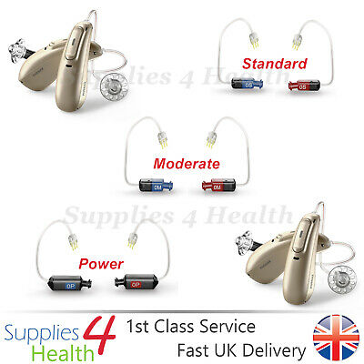 GENUINE Phonak Audéo M Marvel Hearing Aids RIC RITE 4.0 Receivers -NEW Receivers