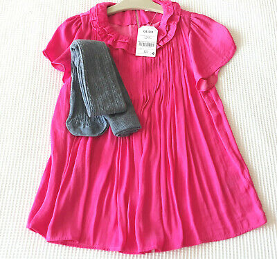 Next Girls Magenta Pleated Top/Blouse Age 10 Years BNWT Tag £22