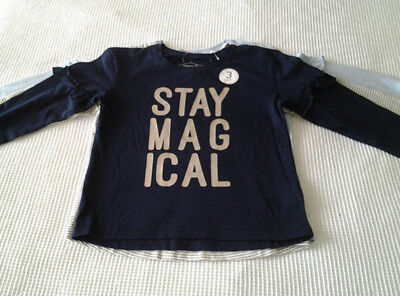 Next Baby Girls 3 Pack Long Sleeved Sparkly Tops Age 9-12 Months BNWT Tag £13