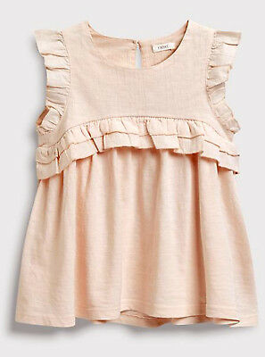 Next Girls Pink Ruffle Detail Top Age 6 Years BNWT.