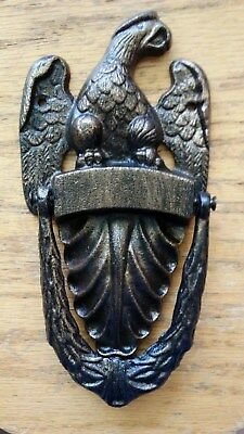 Heavy Amercan Eagle Cast Iron Engravable Door Knocker
