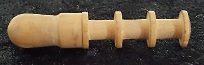 Wood treen vintage Victorian antique needle case cotton reel bobbin