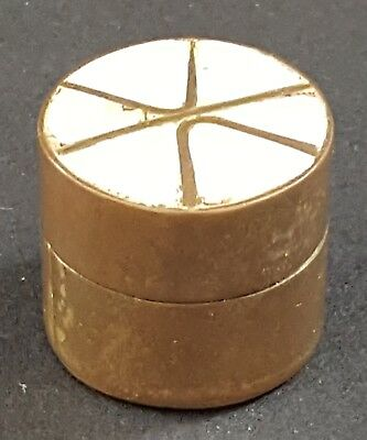 Brass & mother of pearl inlay vintage Victorian antique small box B