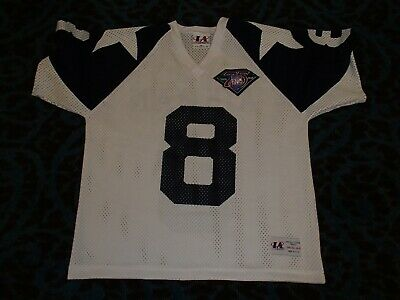 fd653cca5d5 Vintage Logo Athletic Dallas Cowboys Troy Aikman Jersey 75th NFL Anniversary  Med