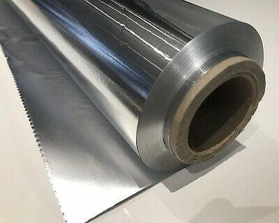 CATERING HEAVY DUTY ALUMINIUM FOOD FOIL 45cm  x 100 METERS 2 Rolls
