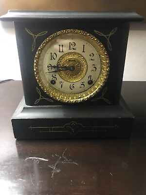 "Antique E. INGRAHAM "" BELMONT "" MANTEL CLOCK -MADE BY THE E. INGRAHAM CO. BRISTO"