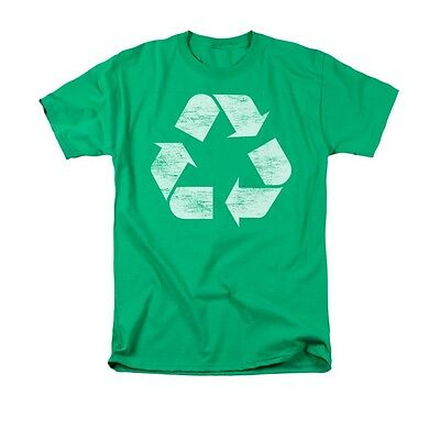 RECYCLED DISTRESSED Novelty Adult Men's Graphic Tee Shirt SM-3XL