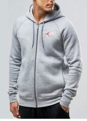 c5cf14c1b193 AIR JORDAN Men s Flight Full Zip Fleece HOODIE XL AV8057-063 LITE GRAY NWT