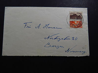 Cover Envelop Zuid Afrika South Africa Hercules to Bergen Norway Norge 1945