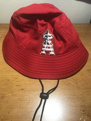 low priced bf913 b7b6a Men s Los Angeles Angels New Era Red 2018 Stars   Stripes 4th of July  Bucket Hat