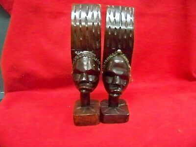 Hand Carved Wooden Decorative Art Book Ends