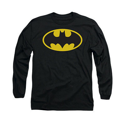 BATMAN CLASSIC LOGO Licensed Adult Men's Long Sleeve Graphic Tee Shirt SM-2XL