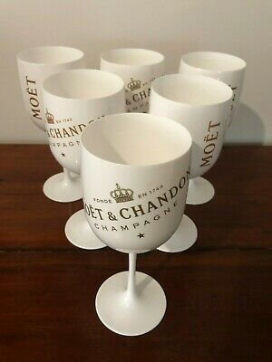 6 X Moet Chandon Ice Acrylic Champagne Goblets