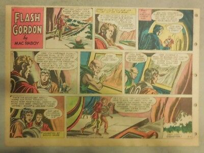 Flash Gordon Sunday Page by Mac Raboy from 3/4/1956 Half Page Size
