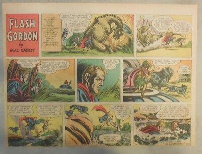 Flash Gordon Sunday Page by Mac Raboy from 1/30/1955 Half Page Size