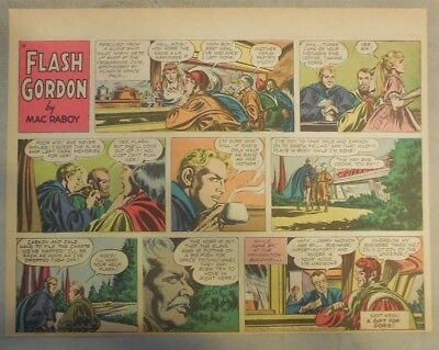 Flash Gordon Sunday Page by Mac Raboy from 12/11/1955 Half Page Size