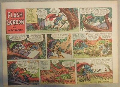 Flash Gordon Sunday Page by Mac Raboy from 2/13/1955 Half Page Size