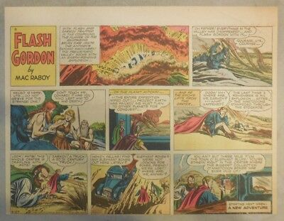 Flash Gordon Sunday Page by Mac Raboy from 3/27/1955 Half Page Size