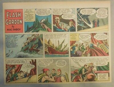 Flash Gordon Sunday Page by Mac Raboy from 4/3/1955 Half Page Size