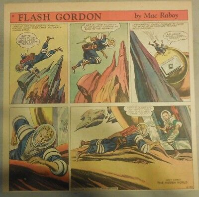 Flash Gordon Sunday Page by Mac Raboy from 6/20/1954  2/3's Full Page Size