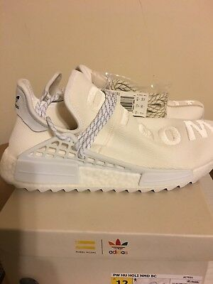 separation shoes 464b1 87a7e US 6.5 ADIDAS Pharrell HU Human Race Holi Blank Canvas Cream ...