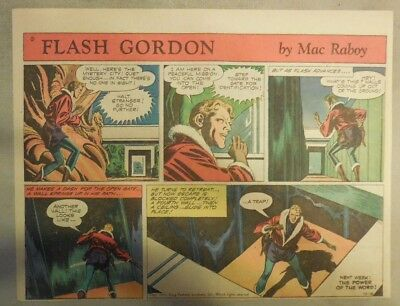Flash Gordon Sunday Page by Mac Raboy from 10/18/1953 Half Page Size