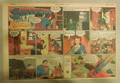 Superman Sunday Page #131 by Siegel & Shuster from 5/3/1942 Half Page:Year #3!