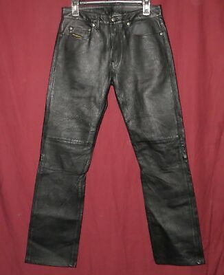 32365425 DIESEL Women's Motorcycle Pants Jeans Size 29 x 33 Lined Pebbled Leather