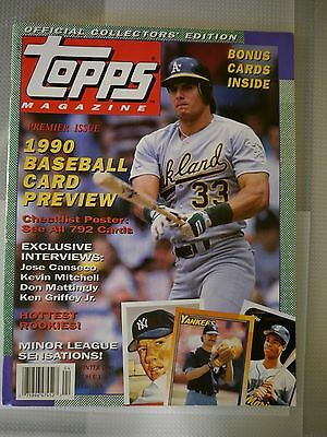 Topps Magazine 1990 Premier Issue With Griffeyjr Card And