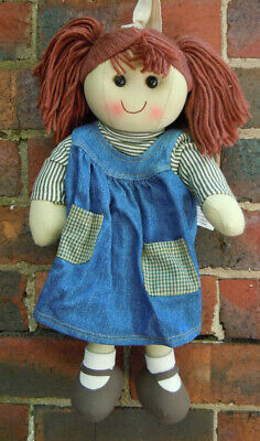 Handcrafted Michelle Backpack Doll in Blue 40cm Tall