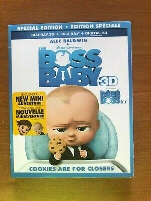 The Boss Baby Special Edition 3D Blu-Ray 2 Discs Set Bi Lingual + Digital HD