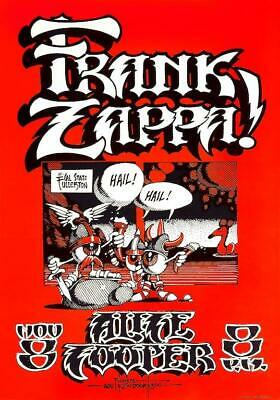 Frank Zappa / Alice Cooper POSTER Cal State 1968 LARGE