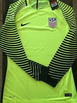 8c0638c6c3a Authentic Player Issue Nike Usa Soccer Jersey Goalkeeper L USMNT Long Sleeve