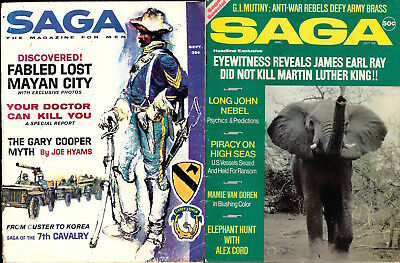 Saga [The Magazine for Men] (2 vintage adventure magazines, 1961, 1969) 125883