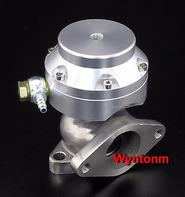 44MM Wastegate 17 PSI Turbo Stainless Steel Dump Valve Anodized SILVER II