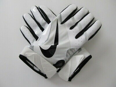 5f7195215 NIKE VAPOR JET 4 Football Gloves White and Pink BCA Youth Large New ...